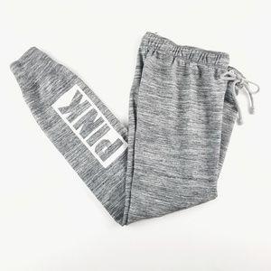 VS PINK.Logo Gray Jogger Sweatpants XS